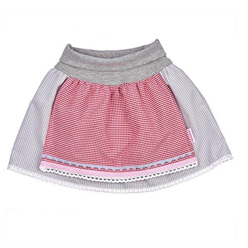 Baby Trachtenrock mit elastischem Bündchen mit angenähter Schürze 74-80. Süßes Geschenk