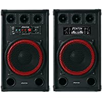 "Fenton SPB-12 Altavoces activo y pasivo 30cm (12"") (800W potencia, entrada USB SD reproductor MP3, sistema sonido profesional, altavoz bassreflex con subwoofer, apto exterior, entrada micrófono)"