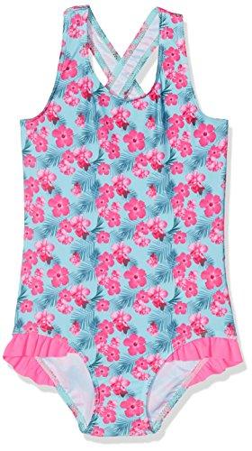 NAME IT Baby-Mädchen Einteiler Nitzana Swimsuit MZ Mehrfarbig (Aqua Haze), 86