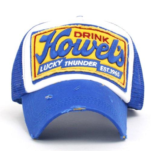 ililily Howel's Distressed Vintage Baseball Mesh Cap Trucker Hat (Hat-cap Trucker Distressed)