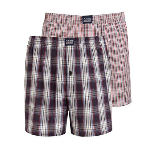 Jockey® Boxer Short 2er Pack, Mehrfarbig kariert, Größe L (Shorts Boxer Kariert)