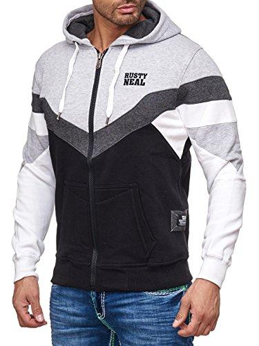 19046v2 Kapuzenpullover Kapuze Pullover Hoodie Sweatjacke Sweat Jacke Pulli Grau