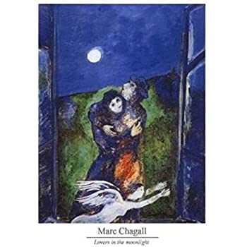 1art1® Posters: Marc Chagall Poster Reproduction - Amoureux Au Clair De Lune (30 x 24 cm)