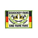 Aufnäher Patches Eishockey Fans sind faire Fans Gr. ca. 13 x 8,5 cm 20635