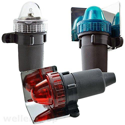 wellenshop Notfall-Navigationslaternen-Set Batteriebetrieb für Boote