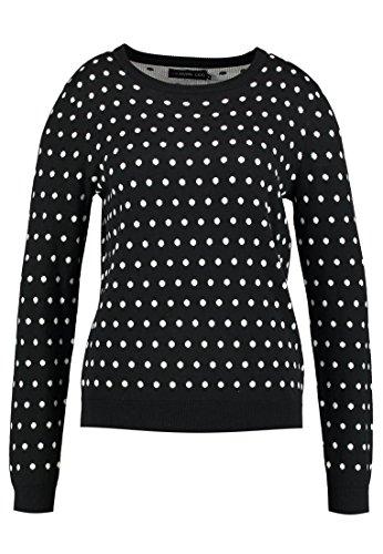 Even&Odd Strickpullover Damen mit Muster - Pullover In Schwarz, XS