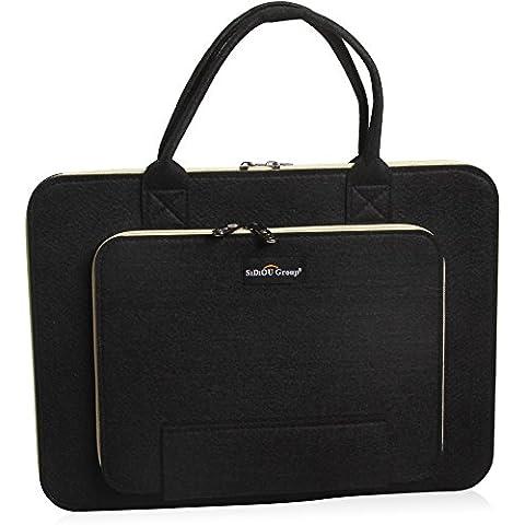 Sidiou Group Fashion bolsa de ordenador portátil Tablet PC paquete de caja de la manga de la tela impermeable del bolso del ordenador portátil (15 pulgadas,
