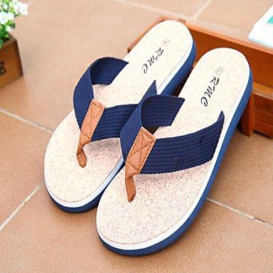 Slippers & amp da uomo;Comfort tessuto esterno casuale piani del tallone sandali blu caffè nero sandali US11.5 / EU45 / UK10.5 / CN47
