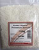 Sorbate de potassium 100g pour la vinification, conservateur de cuisson E202