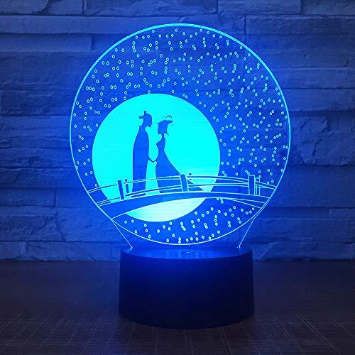 Prodotti creativi colorati e trasformabili lampada da scrivania fumetto atmosfera lampada acrilica lampada da tavolo 3D, colorato: tocco remoto