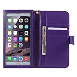 DFV mobile - Crazy Horse PU Leather Wallet Case with Frame Touchable Screen and Card...