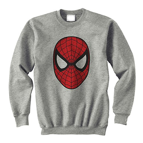 Spider Man Face Mask Original Logo Medium Unisex (Hoodie Spiderman With Mask)