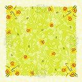 Duni Dunicel Mitteldecken Spring Flowers 84x84 cm 20 Stück, Duni Mitteldecken Ostern, Duni Papier Mitteldecken Ostern grün