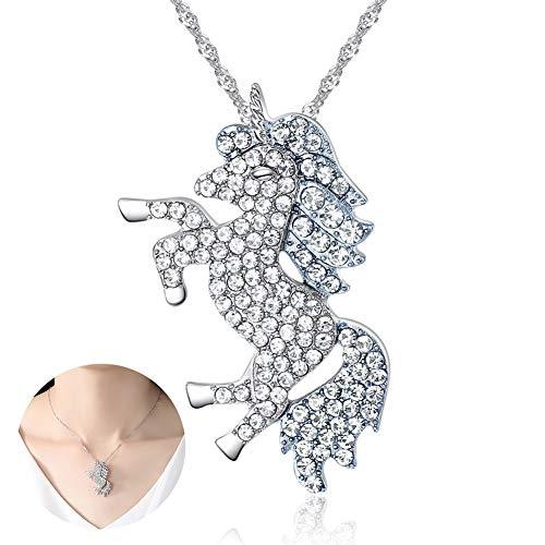 1pc Unicorn collar colgante unicornio diamante caballo