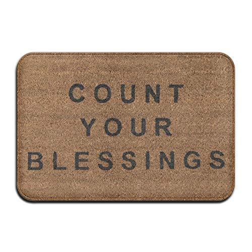 Goodsale2019 novogratz count your blessings super assorbitore antiscivolo, tappeto corallo, tappetino per moquette, moquette, moquette, tappetino, 40x60 cm