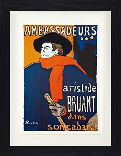 1art1 113594 Henri De Toulouse-Lautrec - Aristide Bruant Dans Son Cabaret Gerahmtes Poster Für Fans Und Sammler 40 x 30 cm