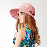 Easy Go Shopping Hat Lady Summer Versión Coreana de The Sun Hat Sun Beach Sun Hat (Color : Rosado)