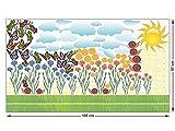 GRAZDesign 911068_100x57 Fenstersticker Sonne und Wolken mit Tiere | Fensterbilder als Bunte Tattoos Fürs Wohnzimmer (100x57cm)