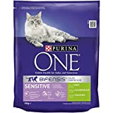 Purina ONE Bifensis Sensitive Rich in Turkey and Rice, 800 g - Pack of 4