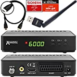 Anadol HD 200 Plus HDMI-Kabel HDTV Digitaler Satelliten-Receiver inkl. WLAN Stick (HDTV, DVB-S2, HDMI, SCART, USB 2.0, Full HD 1080p) [vorprogrammiert] - Schwarz