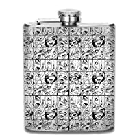 Flask Bottle High Quality Perfect Funny Ahegao Stainless Steel Hip Flask 7 OZ - Sneak Alcohol Anywhere for Man,Woman