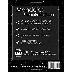 Downloaden Malbuch Für Erwachsene Mandalas Auf Schwarzem