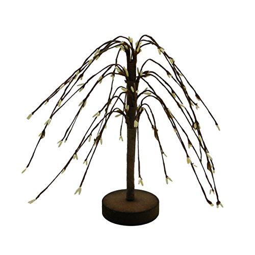 Creme PIP Berry Weeping Willow Tree von cvhomedeco. Rustikal Vintage Dekoration Kunst, 17,8cm Vintage Willow
