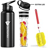 [Sponsored]Fruitalite® Thermosteel Bottle/ Thermos Flask – 1200 Ml With Fruit Infuser Rod & 2 Lids - Flip Top Lid & Wide Mouth Lid, Double Walled Vacuum Insulated Stainless Steel Water Bottles With Cleaning Brush & Recipe EBook &ndas