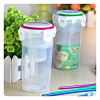 Water-tight Plastic Cup with Tea Filter Lock Lid 450ml