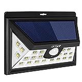Super Bright Solar Lights,Istar 24 LED Solar Powered Outdoor Motion Sensor Licht mit LED auf beiden Seiten für Patio,Deck,Hof,Garten,Auffahrt mit Weitwinkel Sensor 160 °,Solar effeciency 24% (1 Packung)