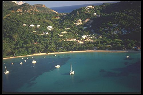 068060-beach-and-landscape-st-barthelemy-french-west-indies-a4-photo-poster-print-10x8