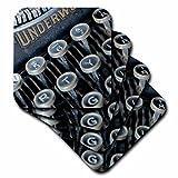 RONI Chastain Fotografie–CLOSE UP Foto von eine alte Schreibmaschine–Untersetzer–Set aus 8Untersetzern–weich