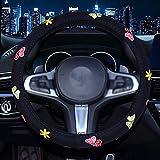 DSGJHJKTO Coprivolanti per Auto Cucito a Punto Farfalla Ricamato Coprivolante Universale Ricamato per Donna e Donna