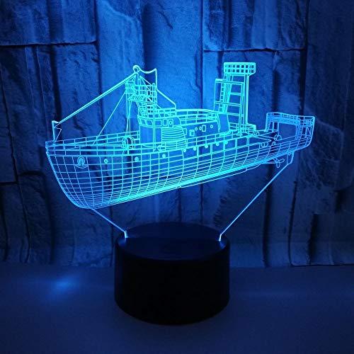 KUVV Perfecto Nave Da Crociera LED Gradienti 3D Stereo Lampada USB Remoto Luce Notte Tocco Comodino Scrivania Regalo Di Compleanno Di Natale Decorato Con Fantasia