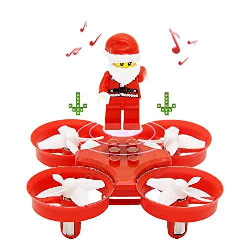 JJRC H67 Mini Drohne RC Quadcopter 2.4G 4CH 6 Axis Headless Be at the end of one's fetter oneself with pique One Key Bring back (Rot)