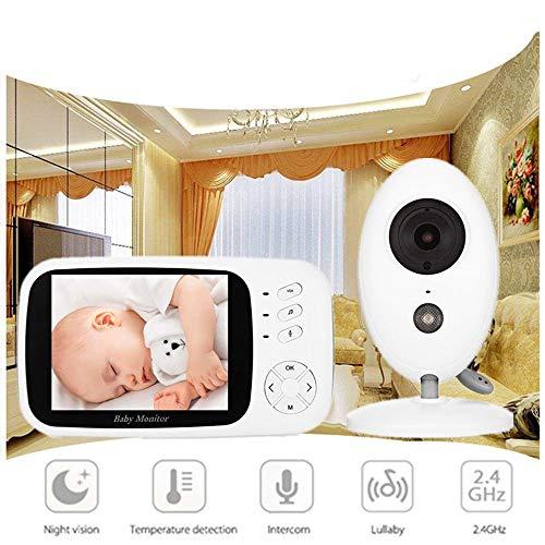BABYMONITORgxg Drahtloser Baby-Videobildschirm Nachtsicht- und Zwei-Wege-LCD-Display-Temperaturmonitor Long Range Sound Aktivierung
