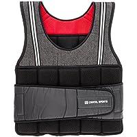 CapitalSports Vestpro 10 Chaleco de Peso lastrado (Weightvest 10 kg, 23 Pesas de Caucho Suave, Entrenamiento en casa, Comodo Resistente)