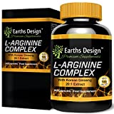 Nitric Oxide Booster - Supplement with L-Arginine and L-Citrulline - 60 Capsules by Earths Design by Earths Design