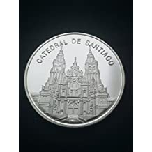 Moneda bañada en plata Catedral de Santiago de Compostela