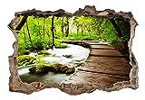 3D WANDILLUSION murando 140x100 cm Wandbild - Fototapete - Poster XXL - Loch 3D - Vlies Leinwand - Panorama Bilder - Dekoration - Natur c-C-0104-t-a