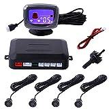 CAHAYA Parksensor Auto Parken Sensor System Einparkhilfe mit HD-LCD-Display und 4 Sensoren - Schwarz