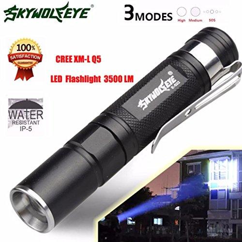 Preisvergleich Produktbild Omiky® Art und Weise 2017 Mini 3500LM Zoomable CREE Q5 LED Taschenlampe 3 Modus-Fackel-super helle helle Lampe