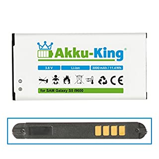 Akku-King Akku ersetzt Samsung EB-B900BE - Li-Ion 3000mAh (ohne NFC) - für Galaxy S5, S5 Neo, GT - i9600, i9602, i9605, SM-G901