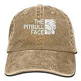 Funny Pitbull Unisex Adjustable Noveity Cowboy Cap Natural