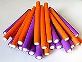 AKTION - FP Flex-Wickler-Set Ø 17-21 mm - Farbe u. Größe nach Wahl (24 Stck. lila+orange + Tasche) (von deutschem Friseurbedarf-Fachhändler!)