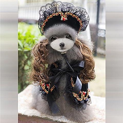 Petlovey Costume del Merletto di Halloween di Natale Cani Abiti per Cani Cuccioli