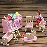 Domybest Puppenhaus Holz Mädchen vorgeben Spiel Haus Möbel Familienzimmer Miniatur (Etagenbett) für Domybest Puppenhaus Holz Mädchen vorgeben Spiel Haus Möbel Familienzimmer Miniatur (Etagenbett)