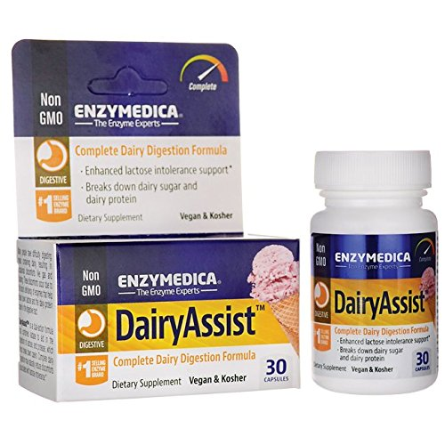 Enzymedica Dairy Assist 30 Capsules