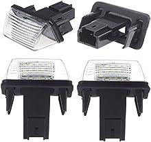 KKMOON 2 luces LED luminosos número de matrícula para Peugeot 206 207 306 307 406 407 Citroen C3 C3 C3 Ii