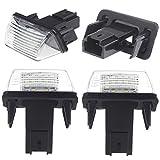 KKMOON 2pcs LED Lumineux feux Numéro de plaque d'immatriculation pour Peugeot 207 306 307 206 406 407 Citroen C3 C3 C3 Ii